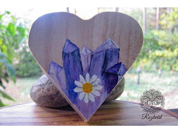Dřevěná srdce, šperkovnice